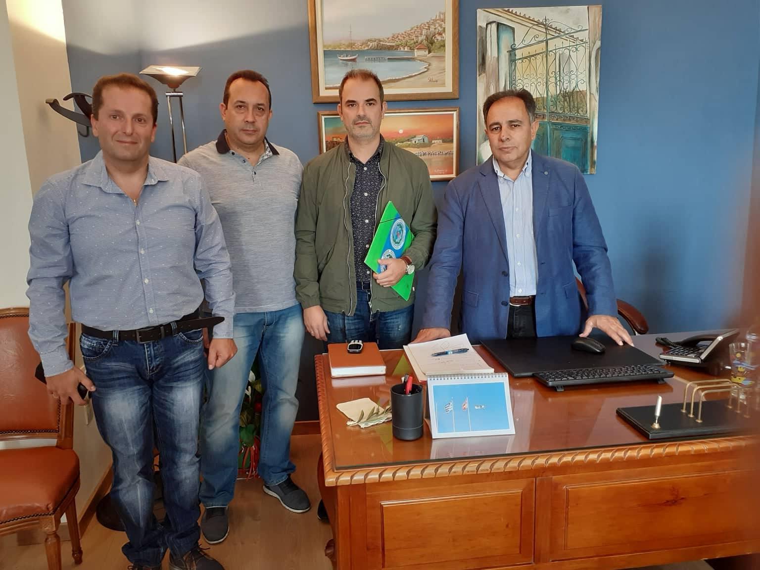 Ε.Σ.ΠΕ.Ε.ΛΕΣ: Συνάντηση με τον Δήμαρχο Μυτιλήνης κ. Στρατή Κύτελη
